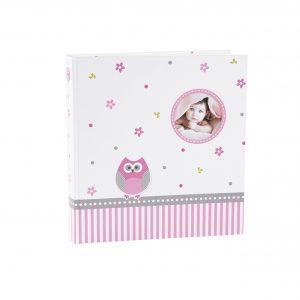 Babyfotoalbum Goldbuch Eule rosa
