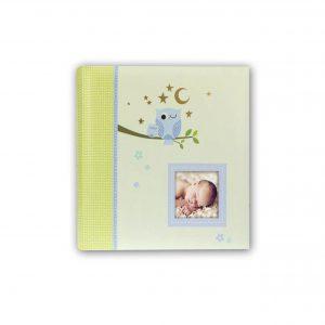 Babyfotoalbum Zep Eule blau