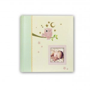 Babyfotoalbum Zep Eule rosa
