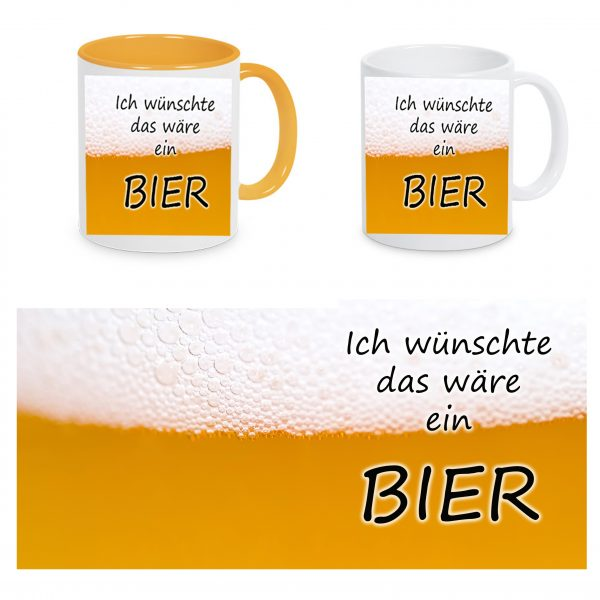 Tasse Bier gelb